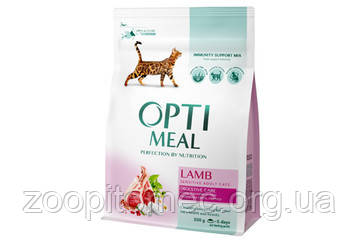 Optimeal (Оптимил) корм для кошек с чувствительным пищеварением с ягненком 0,3 кг