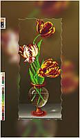 """Схема для вышивки бисером на подрамнике (холст) """"Три тюльпана-1"""""""