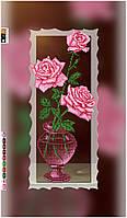 """Схема для вышивки бисером на подрамнике (холст) """"Три розы"""""""