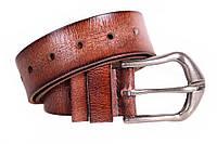 Стильный мужской ремень из винтажной кожи коричневый