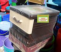 Комод пластиковый мини Комедин, 4 ящика на колесиках, фото 1