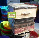 Комод пластиковый мини Комедин, 5 ящиков на колесиках, фото 2