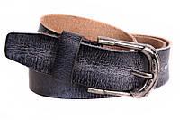 Стильный мужской ремень из винтажной кожи черный