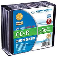 Диск ESPERANZA CD-R  серебристый   - тонкий бокс 10 шт.