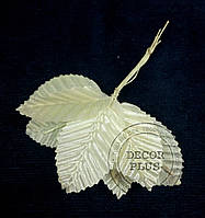 Листочки для декора 5см кремовые