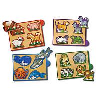 Животные-набор из 4 пазлов, Melissa&Doug