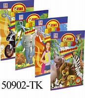 Бумага Цветная А4 14 листов 50902-ТК Tiki