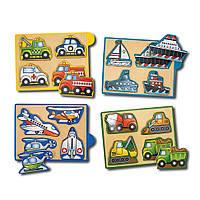 Машинки-набор из 4 пазлов, Melissa&Doug