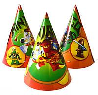 Колпачки праздничные Ниндзяго 15 см