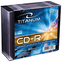Диск TITANUM CD-R  - тонкий бокс 10 шт..