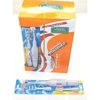 Электронная зубная щетка с 2 насадками. на 1батарейке R6 на листе