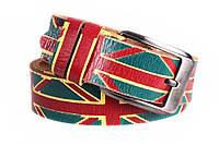 """Мужской кожаный ремень """"флаг Великобритании"""""""