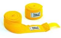 Бинты боксерские  (2шт) Полиэстер + NY EVERLAST 4 м 4456R-180 (цвета в ассорт) желтый