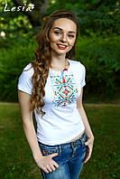 Жіноча вишиванка Верес барвистий на білому