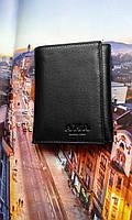 Мужской бумажник кожаный черный,фирмы AKA Deri