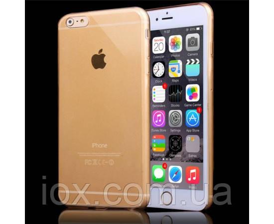 Гибкая пластиковая золотая накладка для Iphone 6/6S