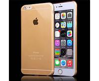 Гибкая пластиковая золотая накладка для Iphone 6/6S, фото 1