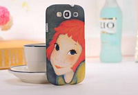 """3D чехол """"Рыжая"""" для Samsung Galaxy S3+пленка в подарок"""