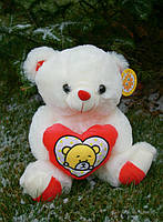 Мишка с сердцем  плюшевый музыкальный , мягкая игрушка