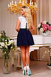 Великолепная юбка из бенгалина темно-синего цвета, фото 4