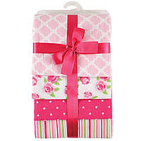 Фланелевые пеленки для девочки (набор 4 шт)