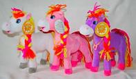 Лошадка Копилка   плюшевая музыкальная , мягкая игрушка