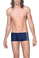 Шорты синие  для плавания мужские с вставкой в полоску 48 52