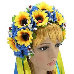 Украинский венок Зоряна желто-голубой
