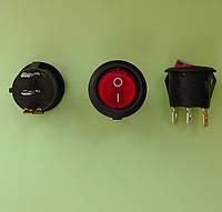 Кнопочный выключатель, диаметр 20.3 мм, красный, с подсветкой