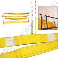 Карманы для волейбольных антенн желтые