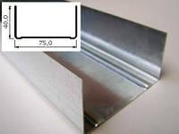Профиль UW 75, сталь толщиной 0,45мм, длина 3м