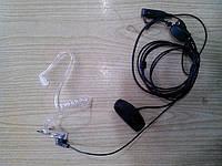 Гарнитура скрытого ношения, 2-проводная с кнопкой на палец, Puxing PX-2R, фото 1