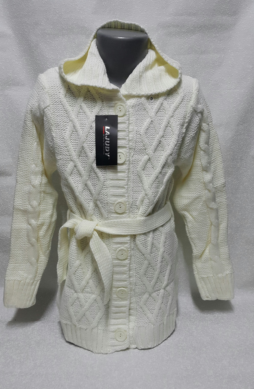 54464fb7054 Белая удлиненная кофта для девочек 98