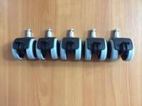 Ролики обрезиненные со стопором комплект 5 штук