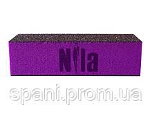 Nila Брусок шлифовочный (баф) 80х80х80 пурпурного цвета
