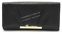 Модный матовый кожаный женский кошелек черного  цвета SALFEITE art. 12177, фото 1