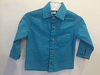 Рубашка бирюза р.1-5 лет