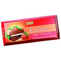 Шоколад черный Böhme Erdbeer Creme Schokolade с клубничной начинкой, 100 г