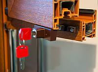 Блокирующий замок для окон BSL ORIGINAL  коричневый в коробке., фото 1