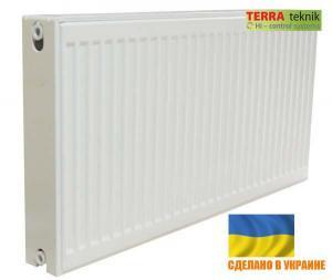 Стальной Радиатор отопления (батарея) 300x1300 тип 22 Terra Teknik (боковое подключение)