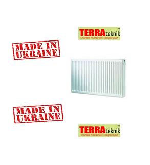 Стальной Радиатор отопления (батарея) 300x1300 тип 22 Terra Teknik (боковое подключение), фото 2