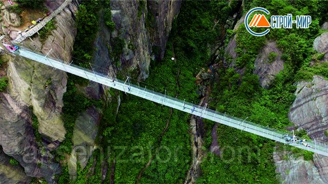 Китайцы построили самый длинный и самый высокий стеклянный мост в мире
