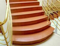 Изготовление и облицовка лестниц внутри помещений