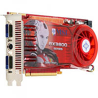 Видеокарта ATI Radeon MSI RX3800, 512mb/256bit/DDR3, PCI-E