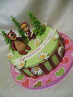 Детский торт на день рождения с персонажами из мультфильмов