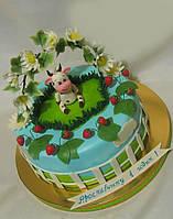 Детский торт для самых маленьких на день рождения с персонажами из мультфильмов