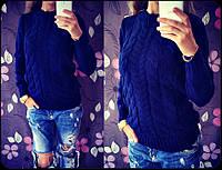 Женский вязаный свитер 02