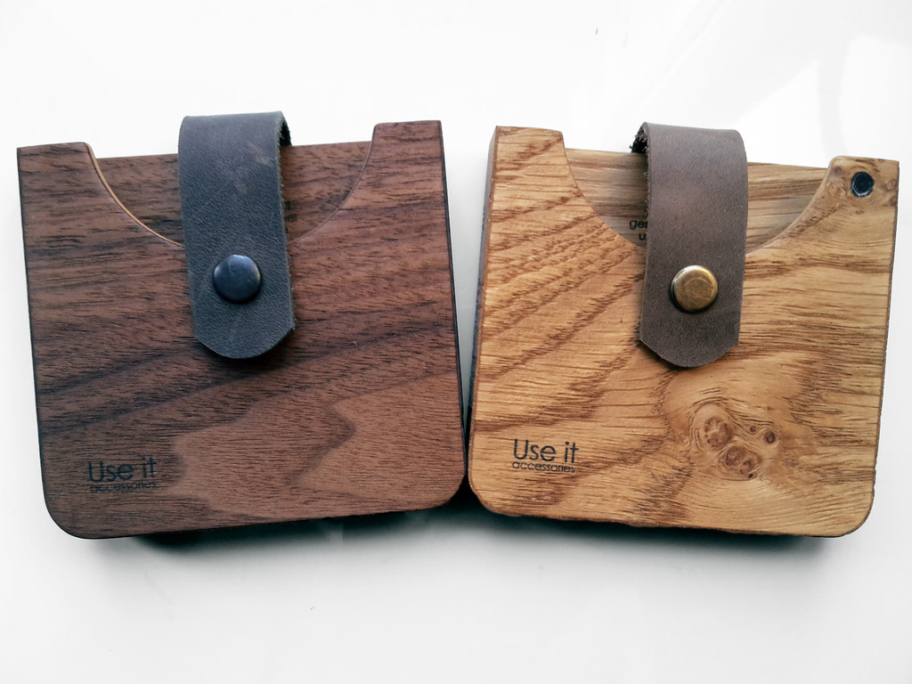 Новые деревянные кошельки
