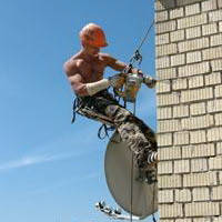 Промышленный альпинизм. Установка, ремонт спутниковых антенн