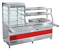Прилавок-витрина холодильный ABAT ПВХМ-70КМУ нерж